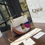 Imitation Chloe Drew Small Rainbow Leather And Suede Shoulder Bag Pre-Fall 2016 Bag Collection, Multicolor Purple