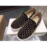 Imitation Christian Louboutin Roller 1C1S Slip-On Suede Sneakers Black
