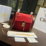 Knockoff Chloe Drew Bi-Color Suede Small Bag With Smooth Calfskin Fall/Winter 2016 Runway Bag Collection, Red