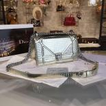 Knockoff Christian Dior Diorama Metallic Perforated Calfskin Small Cross Body Bag Cruise 2016 Collection, Gold