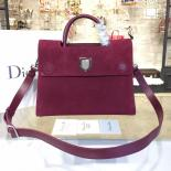 Knockoff Dior Diorever Tote Large Bag Suede With Calfskin Leather Fall-Winter 2016 Collection, Burgundy