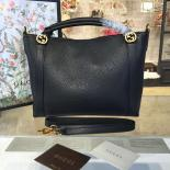 Knockoff Gucci GG Top Handle Large Leather Hobo Bag Fall/Winter 2016 Runway Collection, Black