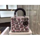 Lady Dior Embellished Satin Leather Medium Bag Pre-Fall 2015 Collection, White