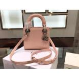 Lady Dior Mini Bag With Chain Python Skin Leather Fall/Winter 2015 Collection, Light Pink