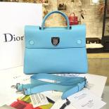 Luxury Replica Dior Diorever Tote Large Bag Calfskin Leather Bag Fall/Winter 2016 Collection, Blue