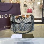 Luxury Replica Gucci Dionysus GG Supreme Canvas With Bee Embroidery And Suede Shoulder Fall/Winter 2016 Collection, Brown