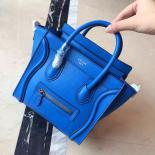 On SALE! Celine Nano Luggage Bag Smooth Calfskin Leather Cruise 2015 Collection, Electric Blue