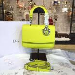 Replica AAA Dior Be Dior Mini Bag Grained Calfskin Leather Fall/Winter 2016 Collection, Mimosa Yellow