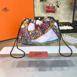Replica AAA Hermes Silk Fourbi Carre En Cravates GM Bag Insert With Etoupe Leather Fall/Winter 2016 Collection, Light Pink Multicolor