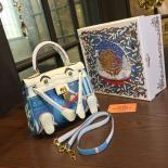 Replica AAA Limited Edition Hermes Mini Kelly Doll Bag 20cm Swift Leather With Croc Gold Hardware Singapore 50th Anniversary, Blanc/Light Blue