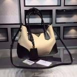 Replica AAA Prada Double Tote Medium Bag Original Leather Spring Summer 2015 Collection, Black With Canvas