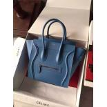 Replica Celine Micro Luggage Bag Grained Calfskin Fall/Winter 2015 Collection, Blue