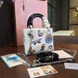 Replica Cheap Lady Dior Embroidery Flower/Butterfly Stitched Mini 17cm Bag Lambskin Leather Spring/Summer 2016 Collection, White