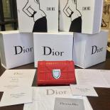 Replica Christian Dior Élancée Cannage Wallet Lambskin Leather Fall-Winter 2016 Collection, Red