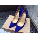 Replica Christian Louboutin So Kate Suede Leather Pumps 120mm, Blue