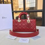 Replica Dior Runway Bag 26cm Lambskin Leather Pre-Fall 2016 Collection, Burgundy