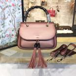 Replica Gucci Bamboo Top Handle Leather Bag Fall/Winter 2016 Collection, Apricot
