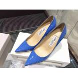Replica Jimmy Choo Abel Point-Toe Patent Leather Pumps, Blue