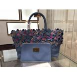 Replica Limited Edition Bottega Veneta Nappa Ayers Butterfly Cabat Tote Bag Resort 2016 Collection, Light Blue