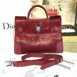 Replica Luxury Dior Diorever Tote Large Bag Calf Hair And Leather Fall/Winter 2016 Collection, Burgundy