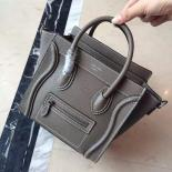 Replica On SALE! Celine Nano Luggage Bag Pebbled Calfskin Leather Cruise 2015 Collection, Grey