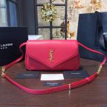 Replica YSL Saint Laurent Monogram Envelope Chain Small Shoulder Bag Original Leather Fall/Winter 2016 Collection, Red