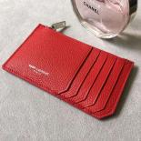 Saint Laurent 5 Fragments Zipped Case In Red Leather