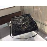 Sale Chloe Faye Large Bag In Patent Calfskin Leather Pre-Spring 2015 Collection, Black