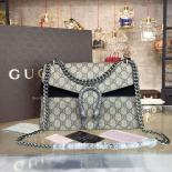 Sale Gucci Dionysus GG Supreme Shoulder Small Bag Fall/Winter 2016 Collection, Black/Beige
