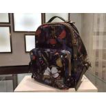 Valentino CamoButterfly Nylon Small Backpack Oringinal Leather Spring 2015 Collection, Green