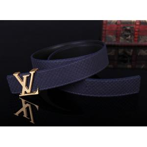 AAA Louis Vuitton Suede Leather LV Initiales Belt - 21