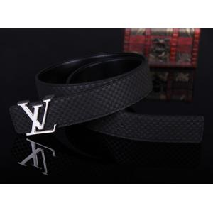 AAA Louis Vuitton Suede Leather LV Initiales Belt - 22