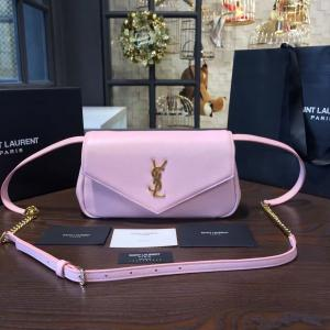 AAA Replica YSL Saint Laurent Monogram Envelope Chain Small Shoulder Bag Original Leather Fall/Winter 2016 Collection, Pink