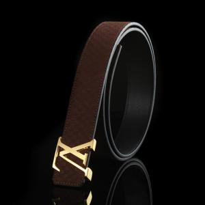 Best Quality Louis Vuitton Suede Leather LV Initiales Belt - 14