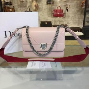Fake Diorama Club 25cm Bag Grained Calfskin Leather Pre-Fall 2016 Collection, Pink