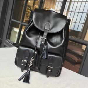 Famous YSL Saint Laurent Backpack Smooth Calfskin Original Leather Fall/Winter 2016 Collection, Black