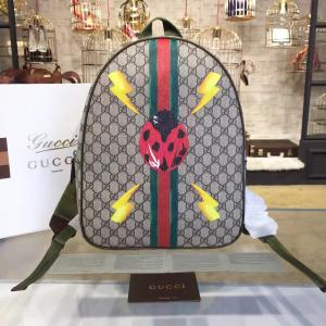 Gucci 'GG' Canvas Ladybug Backpack Original Leather Fall/Winter 2016 Collection, Beige & Brown