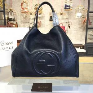 Gucci Soho Large Satchel Bag Original Leather Fall/Winter 2016 Collection, Black