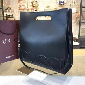 Gucci XL Leather Tote Bag Calfskin Leather Fall/Winter 2016 Collection, Black