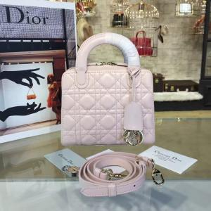 High Quality Replica Dior Lily 19cm Bowling Bag Lambskin Leather Pre-Fall 2016 Collection, Light Pink