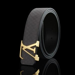 Knockoff Louis Vuitton Suede Leather LV Initiales Belt - 13