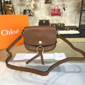 Luxury Chloe Kurtis Suede And Calfskin Leather Small Shoulder Bag Pre-Fall 2016 Bag Collection, Tan