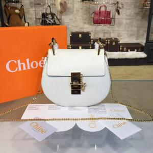 Perfect Chloe Drew Mini Bag With Grained Calfskin Fall/Winter 2016 Runway Bag Collection, White