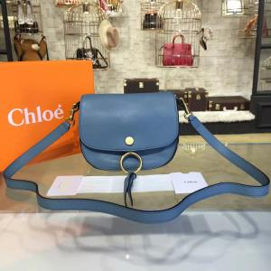 Replica AAA Chloe Kurtis Suede And Calfskin Leather Small Shoulder Bag Pre-Fall 2016 Bag Collection, Blue