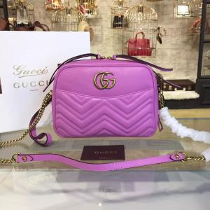 Replica AAA Gucci GG Marmont Matelassé Large Shoulder 27cm Bag Fall/Winter 2016 Collection, Pink