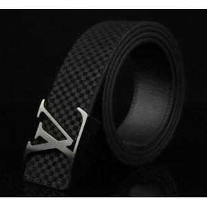 Replica AAA Louis Vuitton Suede Leather LV Initiales Belt - 19