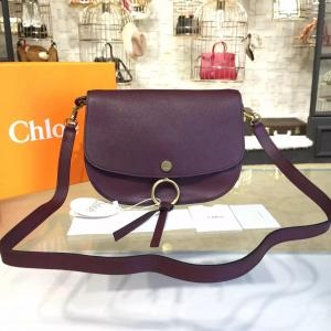 Replica Chloe Kurtis Suede And Calfskin Leather Large Shoulder Bag Pre-Fall 2016 Bag Collection, Burgundy
