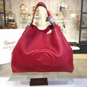 Sale Gucci Soho Large Satchel Bag Original Leather Fall/Winter 2016 Collection, Red